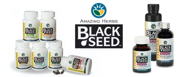 Amazing Herbs Black Seed Cold-pressed Oil and Capsules
