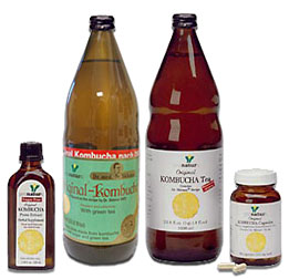 Kombucha Tea, Kombucha Press Extract, and Kombucha Tea Capsules from Dr. Sklenar